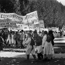 Défilé des infirmières en grève
