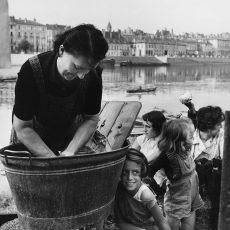 La lessive sur le quai de la Saône