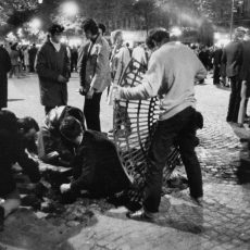 Evénements de mai-juin 68. Premières barricades au quartier latin