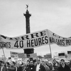 Manifestation organisée par la C.G.T. en faveur des 40 heures de travail hebdomadaire