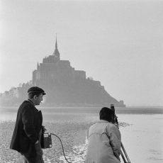 Caméraman en baie du Mont-Saint-Michel